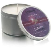 Earthly Body 3-In-1 Suntouched Candle - Massage Oil Moisturizer Lavender 6 oz